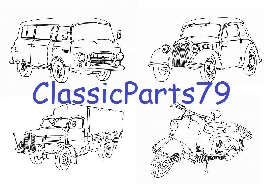 malbuch mit ddrfahrzeugen  classic parts 79