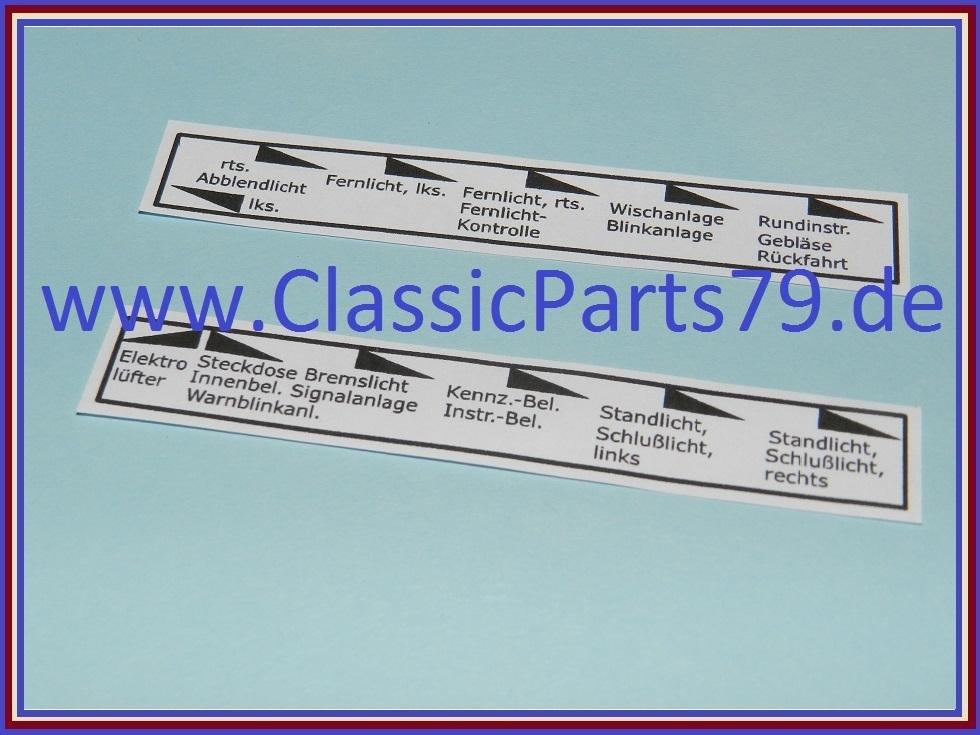 beschriftung sicherungskasten wartburg 353 classic parts 79. Black Bedroom Furniture Sets. Home Design Ideas