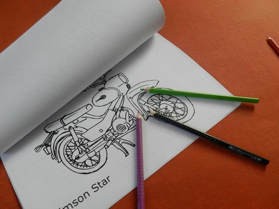 Malbuch DDR Zweiräder Simson MZ - Classic Parts 79